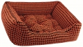 Dogbed Houndstooth Orange
